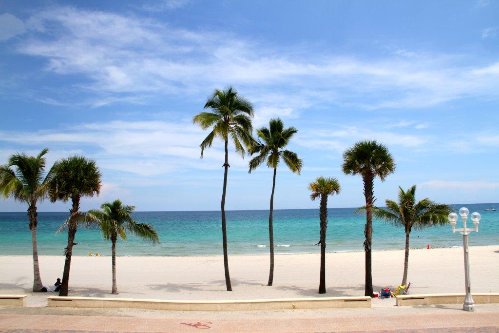 This picture is taken from inside our patio. We are right on Hollywood Beach!